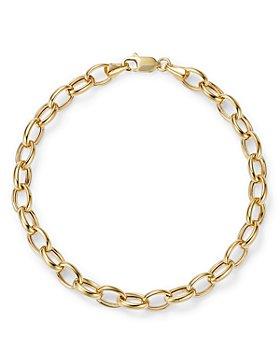 Bloomingdale's - Medium Link Chain Bracelet in 14K Yellow Gold - 100% Exclusive