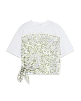 Sandro - Eulali Printed Tie Hem Tee