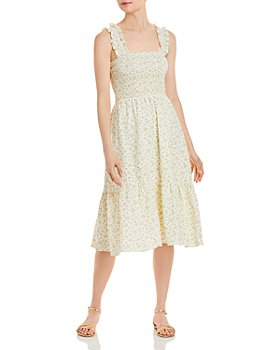 Lucy Paris - Floral Smocked Sleeveless Dress