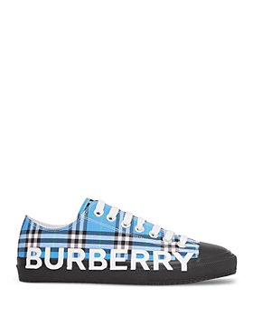 Burberry - Women's Logo Print Check Cotton Sneakers