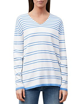 Lafayette 148 New York - Striped V Neck Sweater