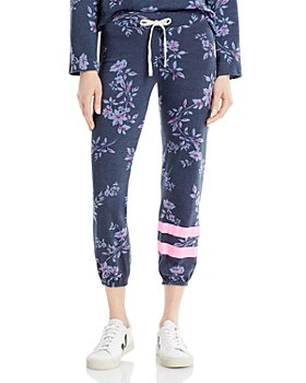 Sundry - Dark Floral Striped Jogger Pants