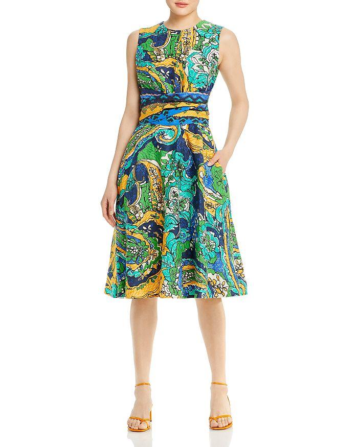 Kobi Halperin Midi dresses SOPHIE PRINTED A LINE DRESS