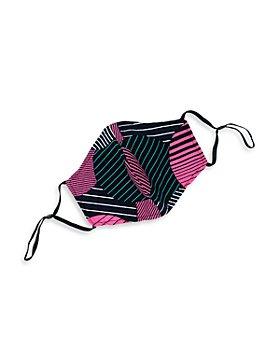 DIOP - Akira Cotton Color Blocked Stripe Patchwork Face Mask