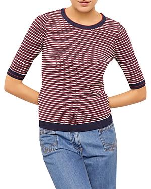 Gerard Darel Elea Dot Stripe Pullover Sweater