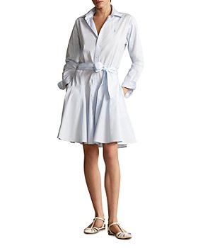 Ralph Lauren - A-Line Cotton Broadcloth Shirtdress