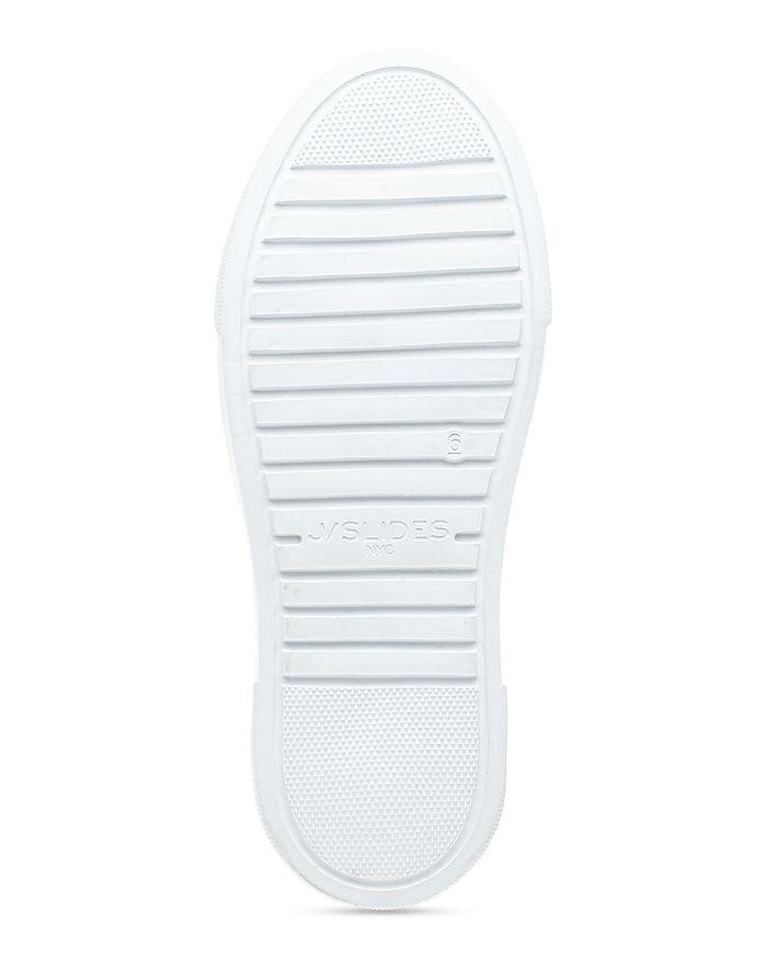 J/SLIDES Leathers J/SLIDES WOMEN'S AILEEN PERFORATED NUBUCK LEATHER SLIP ON PLATFORM SNEAKERS