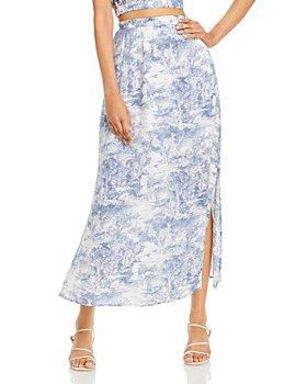 Lucy Paris - Toile Print Maxi Skirt