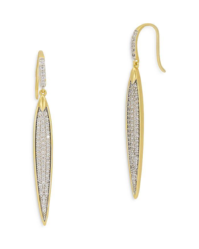 Freida Rothman Earrings PETALS AND PAVE DROP EARRINGS