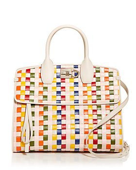 Salvatore Ferragamo - Studio Bag Woven Leather Satchel