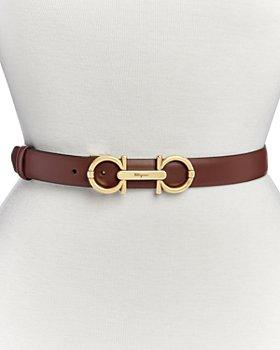 Salvatore Ferragamo - Women's Double Gancini Leather Belt