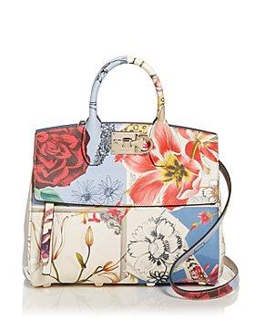Salvatore Ferragamo - Studio Bag Floral Leather Satchel