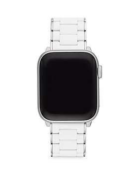 MICHELE - Apple Watch® White Silicone Wrapped Interchangeable Bracelet, 38-42mm