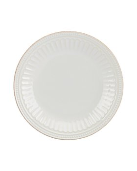Lenox - French Perle Groove White Accent Plate