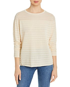 Lafayette 148 New York - Sheer Yoke Striped Sweater
