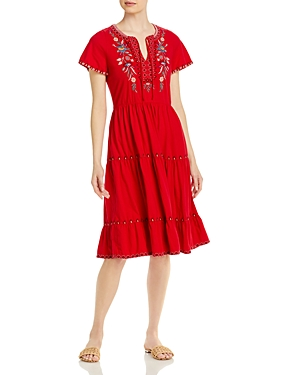 Johnny Was NYA TIERED KNIT DRESS
