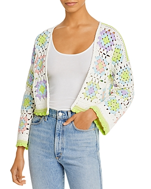 Alice And Olivia ALICE AND OLIVIA ANDERSON CROCHET CARDIGAN