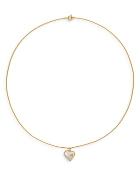 """Tory Burch - Stone Heart Pendant Necklace, 21"""""""