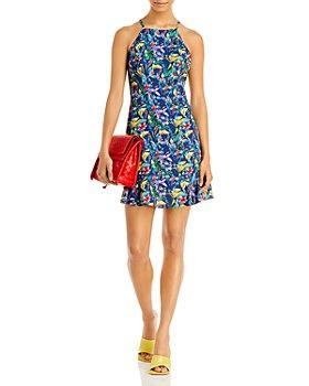 AQUA - Parrot Print High Neck Dress - 100% Exclusive