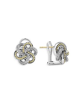 LAGOS - Sterling Silver & 18K Yellow Gold Love Knot Stud Earrings