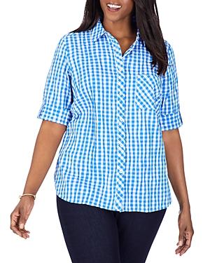 Gingham Crinkle Shirt
