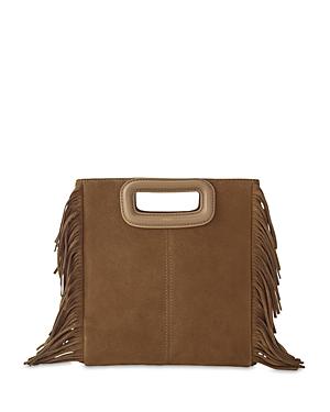 Maje M Suede Bag In Camel