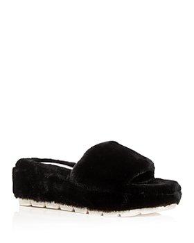 J/Slides - Women's Willow Faux Fur Slide Slippers