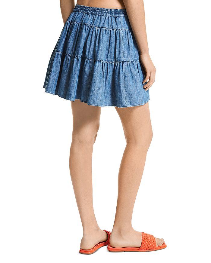 MICHAEL MICHAEL KORS Mini skirts CHAMBRAY TIERED MINI SKIRT