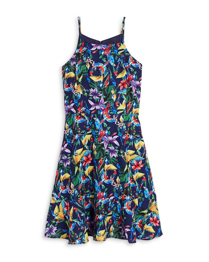 AQUA - Girls' Floral Sleeveless Dress, Big Kid - 100% Exclusive