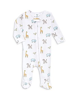 Aden and Anais - Unisex Animals Print Comfort Zip Front Footie - Baby