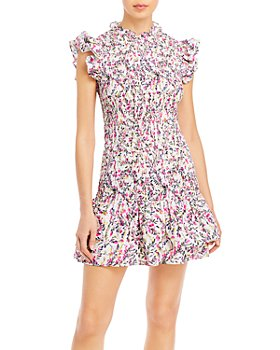 FRENCH CONNECTION - Flores Verona Smocked Mini Dress