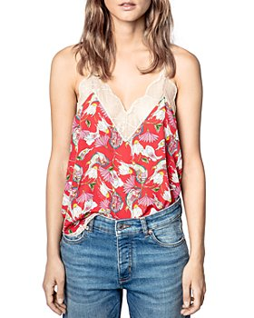 Zadig & Voltaire - Christy Lace Trimmed Silk Print Camisole