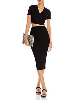 AQUA - Crop Top & Midi Skirt - 100% Exclusive