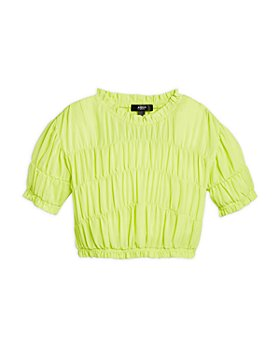 AQUA - Girls' Ruched Short Sleeve Top, Big Kid - 100% Exclusive