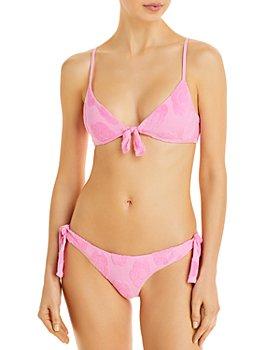 Frankies Bikinis - Wonderland Terry Textured Bikini Top & Falcon Terry Textured Bikini Bottom