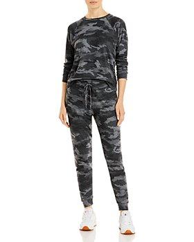 Beyond Yoga - Camo Print Sweatshirt & Sweatpants