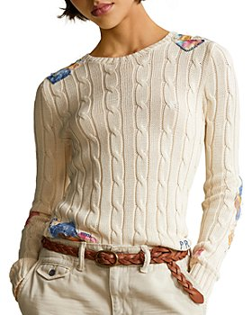 Ralph Lauren - Patchwork Cable-Knit Sweater