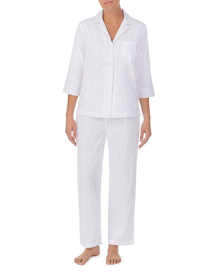 Ralph Lauren - Cotton Notched Collar Pajama Set