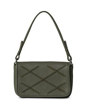 Callista - Iconic Cross Mini Baguette Leather Shoulder Bag