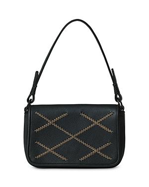 Iconic Cross Mini Baguette Leather Shoulder Bag
