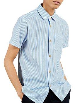 Ted Baker - Striped Jersey Short Sleeve Shirt