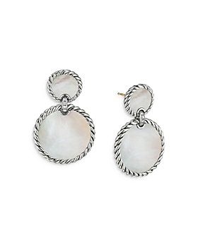 David Yurman - Sterling Silver DY Elements® Double Drop Earrings with Mother-of-Pearl & Diamonds