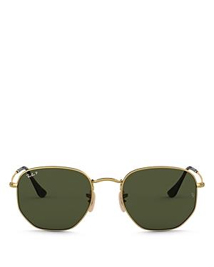 Ray-Ban Unisex Icons Polarized Hexagonal Sunglasses, 51mm