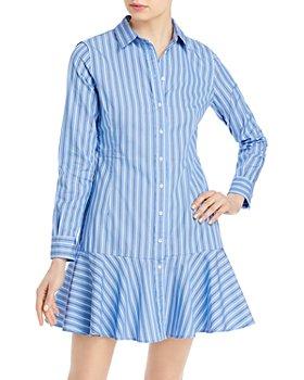Ralph Lauren - Striped Ruffled Shirt Dress