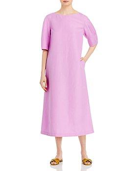 Lafayette 148 New York - Cait Silk Linen Midi Dress