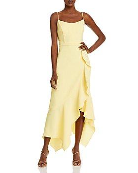 AQUA - Ruffled Midi Dress - 100% Exclusive