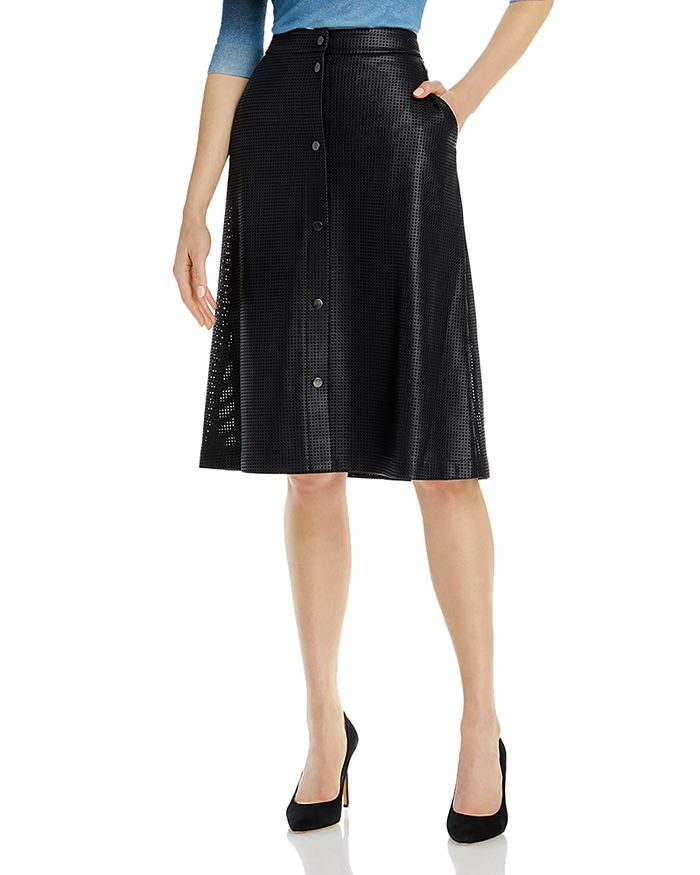 Hugo Boss VEFY FAUX LEATHER A-LINE SKIRT