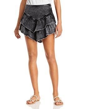 MOTHER - The Ruffle Mini Skirt
