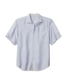 Tommy Bahama - Sand Valencia Striped Camp Shirt