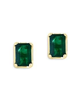 Bloomingdale's - Emerald Stud Earrings in 14K Yellow Gold - 100% Exclusive
